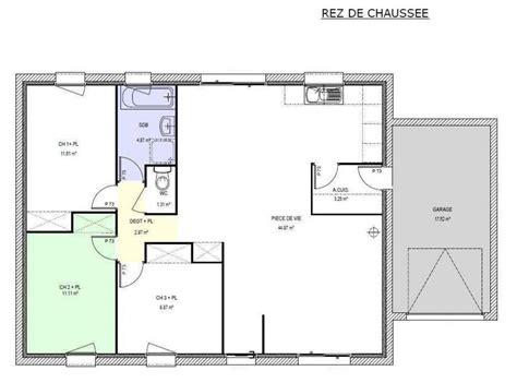 maison 3 chambres plain pied plan maison 3 chambres etage plan maison plain pied 3