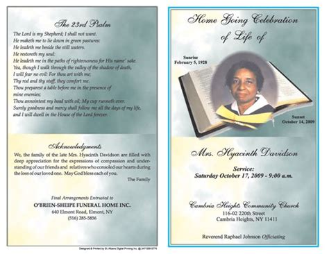 funeral obituary template 6 free funeral program templates microsoft word website