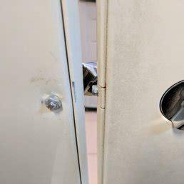 bathroom stall door lock  broken yelp