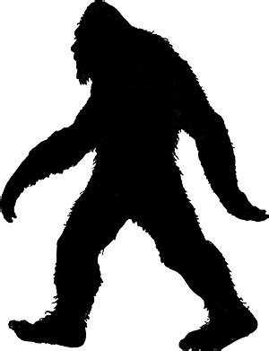 Bigfoot Clipart Bigfoot Clipart Silhouette Pencil And In Color Bigfoot
