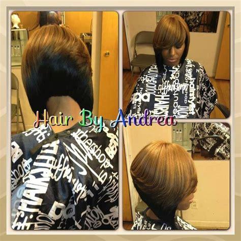 quick weave bob  color hair nails