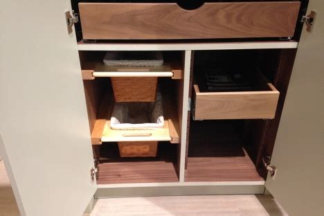 adjustable pullout drawer cuisines laurier