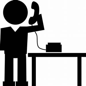 Man Answering Phone Call Svg Png Icon Free Download ...