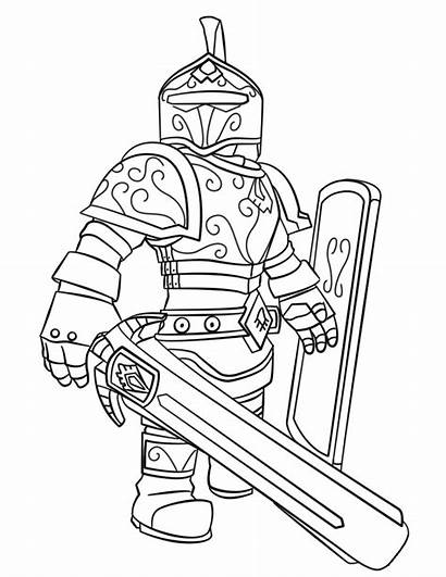 Coloring Roblox Knight Pages Printable Games Robot