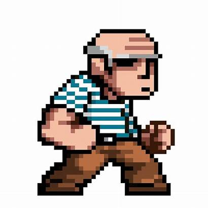 Pixel Characters Animation Punch Fighting Games Behance