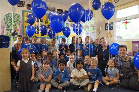 children at st alban s pre school celebrate top marks in 887 | Group1 2