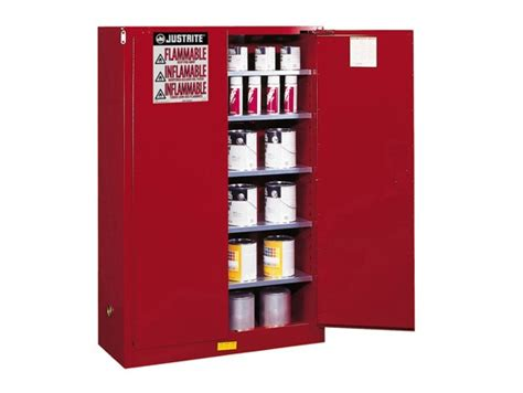 justrite 60 gal cabinet red p i manual with paddle handle