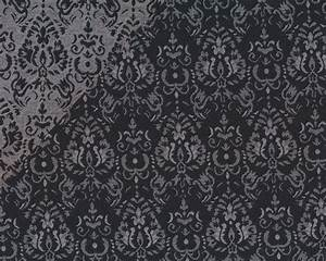 Stoffe Mit Muster : jacquard stoff elita damast muster schwarz hellgrau ~ Frokenaadalensverden.com Haus und Dekorationen