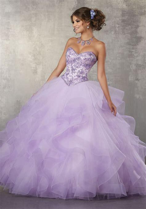 quinceanera dresses light purple strapless ruffled quinceanera dress by mori vizcaya