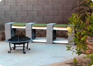 How to Make a Cinder Block Bench - Somewhat Simple