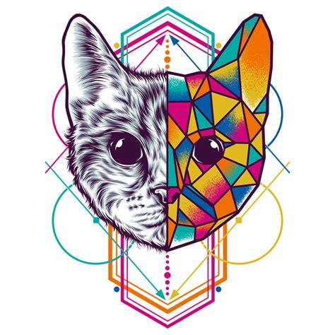 geometric animal series  behance