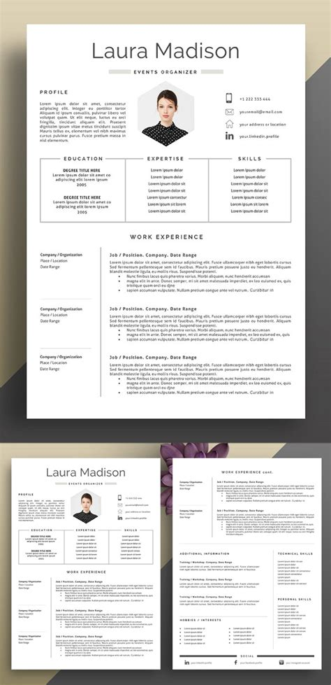 Attractive Cv Templates by 35 Best Minimal Cv Resume Templates Postistic