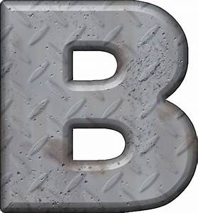 presentation alphabets diamond plate letter b With diamond plate letters