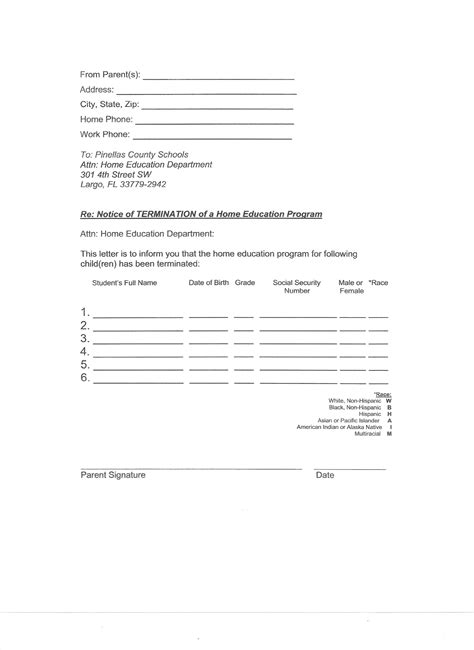 homeschool letter of intent evaluation station 22131