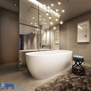 Bathroom lighting ideas bathroom with hanging lights over for Bathroom swag lights