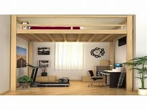 lit mezzanine dressing avec lit lit mezzanine 2 places With petite chambre pour 2