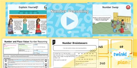 planit maths y5 number and place value lesson pack number problems 1