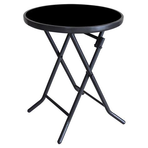 table ronde patio uberhaus table d appoint ronde pour patio pliante 19 quot s