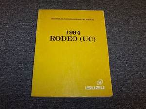 1994 Isuzu Rodeo Suv Electrical Wiring Diagrams Manual