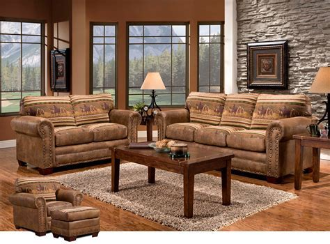 Western Furniture: Wild Horses Sofa Collection Lone Star