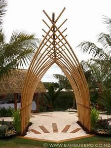 Pergola En Bambou : bamboo pergola arbors pergolas pinterest jardins ~ Premium-room.com Idées de Décoration