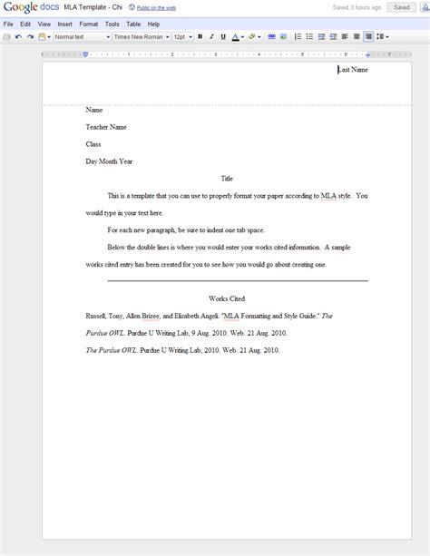 mla template docs mla format template cyberuse