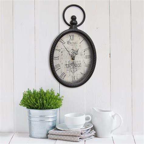 home decor wall clocks stratton home decor antique black oval wall clock s02198