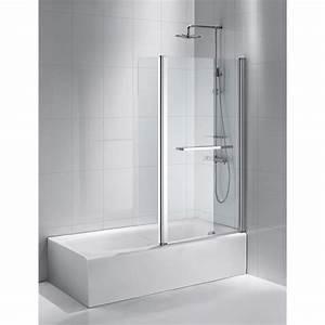 pare baignoire 2 volets pivotant h150 cm purity2 leroy With porte de douche coulissante avec castorama lampe salle de bain