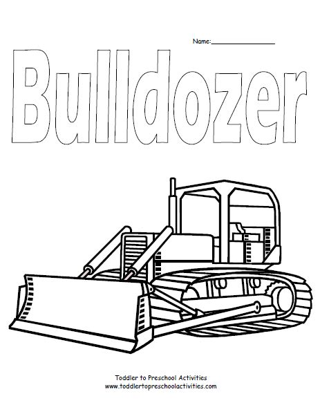 Click any coloring page to see a larger version and download it. Bulldozer Coloring Page | Kids Coloring Pages | Pinterest