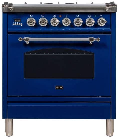 ilve nostalgie series  blue  standing dual fuel liquid propane range upndmpblxlp