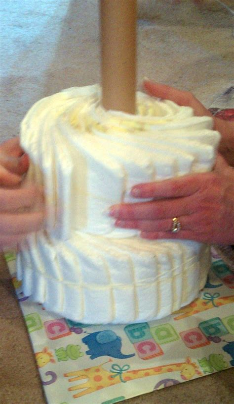 Baby Shower Without - cake without rolling diapers using a cake pan for