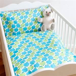 Kinderbettwäsche 100x135 Mädchen : kinderbettw sche apfel blau gr n 100x135 von bygraziela kaufen ~ Orissabook.com Haus und Dekorationen