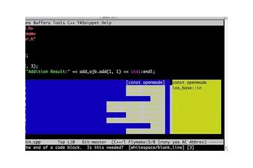 baixar do editor emacs c++