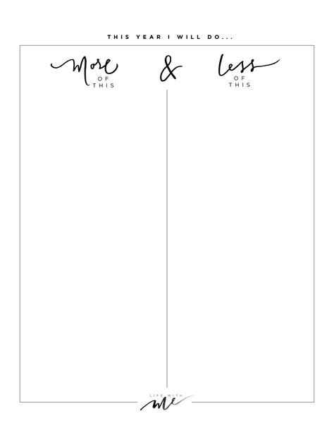New Years Resolutions + Printable Worksheets  Life With Me