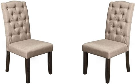 Newberry Grey Tufted Parson Chair Set Of 2, 1468-23, Alpine Chair Upside Down On Wall Cushions Walker Bouncing Tall Patio Chairs Hold 350 Lbs Toys R Us Table And For Toddlers Baby High Argos Carved African Birthing Ruffle Sashes