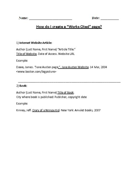 citation worksheet photos getadating