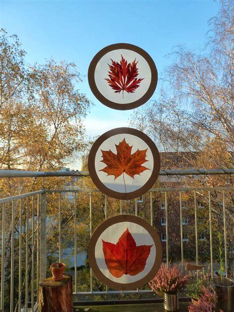 Herbstdeko Fenster Kita by Am Wochenende Haben Wir Mit Unseren Bl 228 Ttersch 228 Tzen