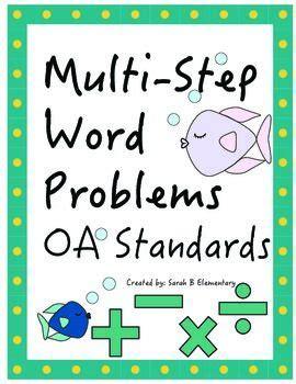 Multi Step Word Problems 4th Grade Common Core Worksheets  Multi Step Money Word Problems 3rd
