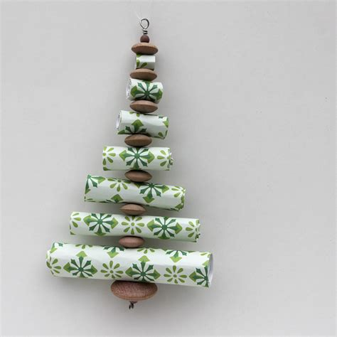ornament advent day 10 paper roll trees the crafty