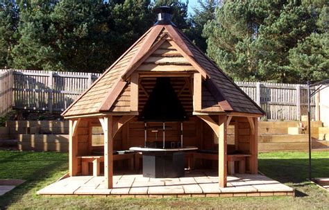outdoor cooking area bbq hut thomson timber