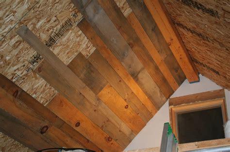 adam  karens tiny house  equinunk pa ceiling planks