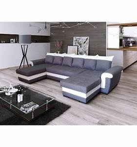canape d39angle u convertible latte gris et blanc le With tapis enfant avec canapé d angle convertible mobilier de france