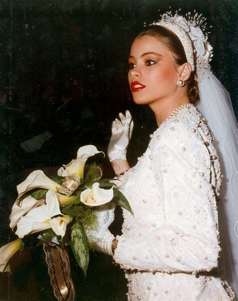 sofia vergara wedding see sophia vergara as a stunning teen bride photos