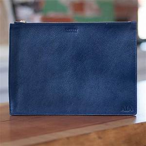 zipper document pouch handmade leather document case With zippered document pouch