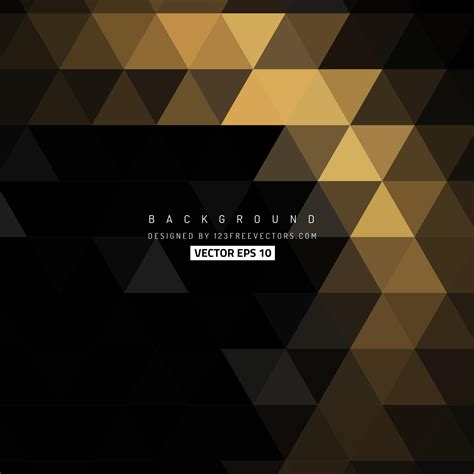 Abstract Black Triangle Background by Black Gold Triangle Background Design