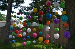 diy outdoor party decorations waterproof pom poms doin doin doin party ideas pinterest