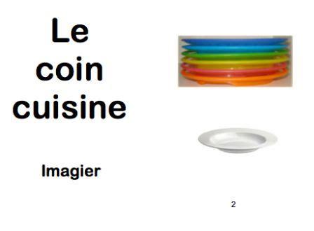le coin cuisine imagier le coin cuisine espaces gestion de classe