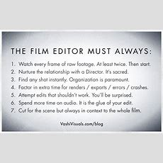What Does A Film Editor Do?  Vashivisuals Blog
