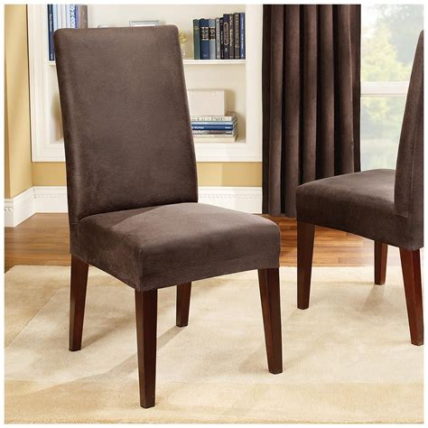 dining chair slipcover sure fit stretch leather shorty dining room chair