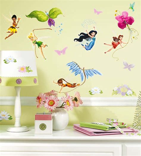 Wandtattoo Kinderzimmer Grün by Wandsticker Disney Fairies Tinkerbell Glitter Tapetenwelt